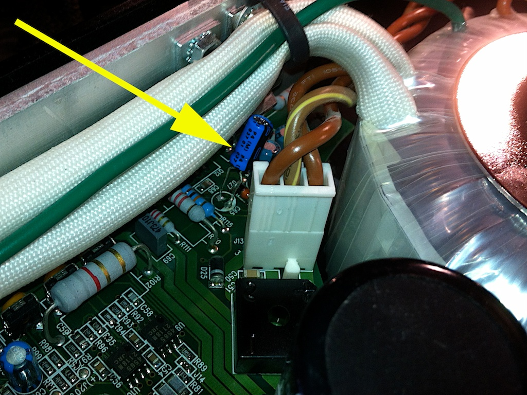 new capacitor in place